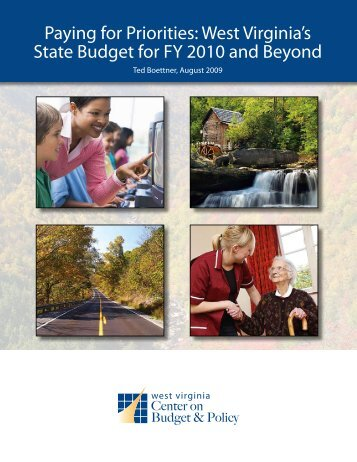Paying for Priorities - West Virginia Center on Budget & Policy