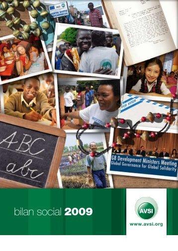 bilan social 2009 - Avsi