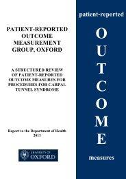 2011 review - Patient-Reported Outcomes Measurement - University ...