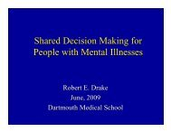 Shared Decision Making for People with Mental Illnesses
