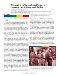 Memoirs: A Twentieth-Century Journey in Science ... - Sigma Pi Sigma