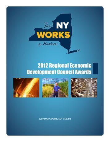 2012 Regional Economic Development Council Awards - The ...