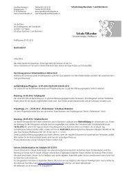 Schulleitung Buechwis 1 und Bommern An die ... - Schule Fällanden