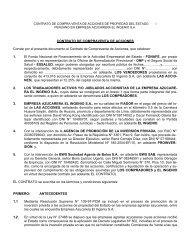 CONTRATO DE COMPRAVENTA DE ACCIONES ... - Proinversión