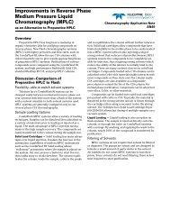 Improvements in Reverse Phase Medium Pressure Liquid ... - Isco