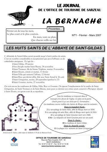 Gazette ref 83 ed var n 11 f vrier 2007 association des - Sarzeau office de tourisme ...