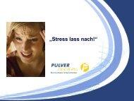 """""""Stress lass nach!"""" - Sternstunde für Unternehmer"""