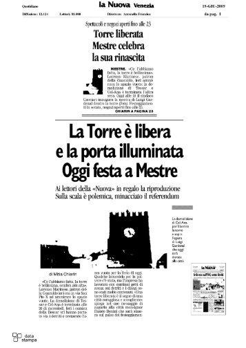 Torre liberata Mestre celebra - Nova Marghera