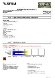 Chemwatch Australian MSDS 28-1587 - FUJIFILM Australia
