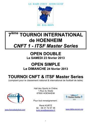 Dossier joueur international table soccer federation - Federation francaise de football de table ...