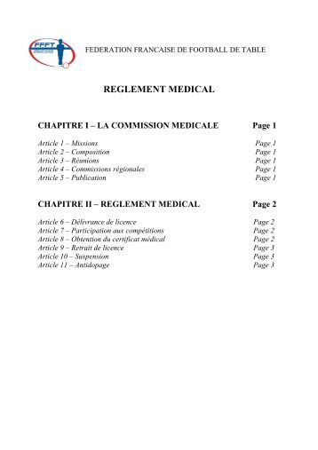 Certificat m dical f d ration fran aise du sport adapt - Federation francaise de football de table ...