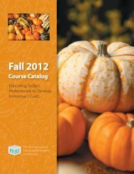 Fall 2012 Catalog - Pharmaceutical Education & Research Institute