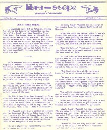 October 5, 1942 Librazette - Librascope Memories