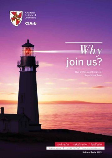 Membership brochure 2011 12.pdf - Chartered Institute of Arbitrators