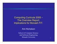 Computing Curricula 2005 – The Overview Report ... - CERG