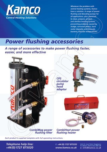 Power flushing accessories - Kamco