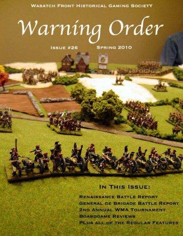 Warning Order - Wasatch Front Historical Gaming Society