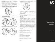 instruction booklet - VS Sassoon