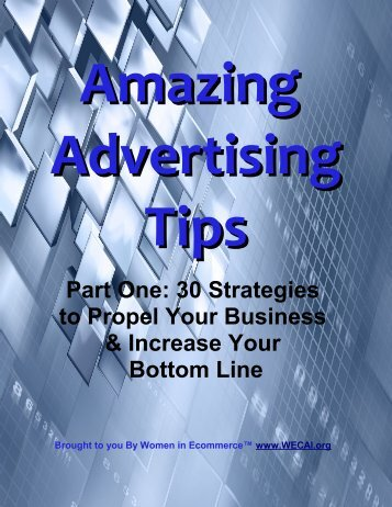 Part One: 30 Strategies to Propel Your Business & Increase Your ...