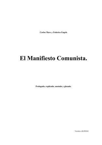 El Manifiesto Comunista. (Prologado y Comentado). - Archivo Chile