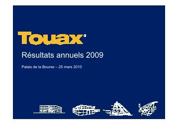 Réunion SFAF du 26 mars 2010 sur les comptes au ... - touax group