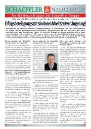 SCHAEFFLER NACHRICHTEN - NSN-Dialog der IG Metall