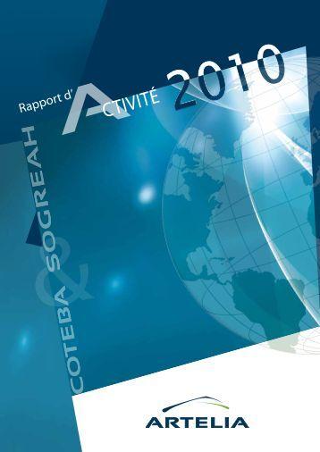 30 ARTELIA   Rapport d'activité 2010