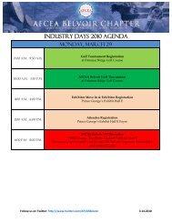 INDUSTRY DAYS 2010 Agenda - AFCEA Belvoir