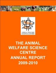 the animal welfare science centre annual report 2009-2010
