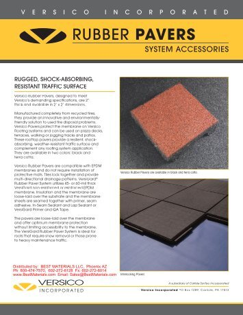 RUBBER PAVERS - Best Materials