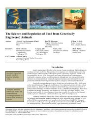 The Science and Regulation of Food from Genetically Engineered ...