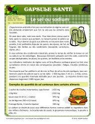 Le sel ou sodium - AQDR