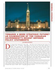 towards a more strategic future? an examination of the canadian ...