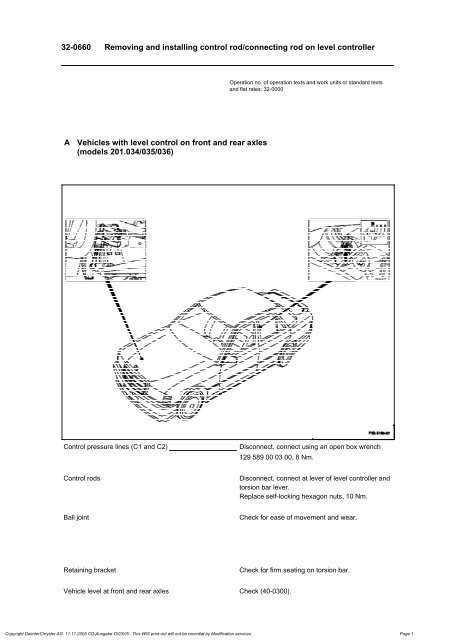 W124 Level Control Connectin Rod Removal Installation pdf