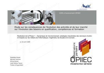 Rapport OPIIEC Phase 1 - version du 19 juin 2009 - Syntec ingenierie