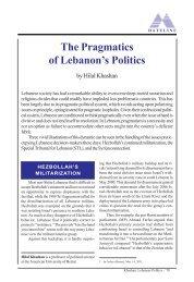 The Pragmatics of Lebanon's Politics - Middle East Forum