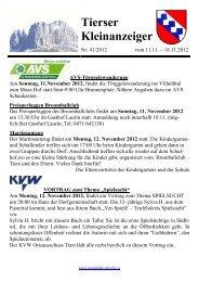 Kleinanzeiger 41/2012 (198 KB) - .PDF - Gemeinde Laas