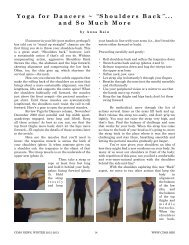 """Yoga for Dancers ~ """" Shoulders Back """" ... and So Much More"""