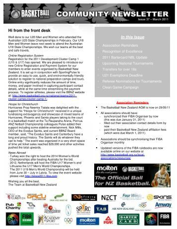 Issue 37 March 2011.pdf - Basketball New Zealand