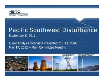 Pacific Southwest Disturbance - September 8, 2011
