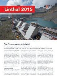 Newsletter Linthal 2015 Aktuell, Oktober 2013 - Axpo