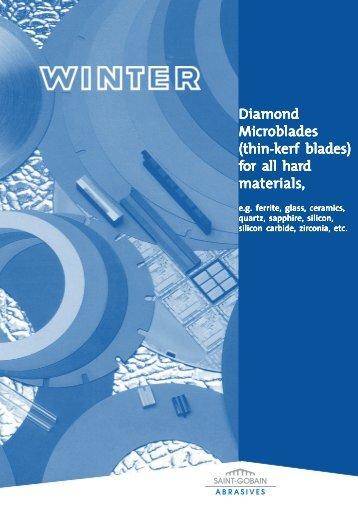Diamond Microblades - Saint-Gobain Diamantwerkzeuge GmbH ...