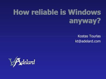How reliable is Windows after all? - Adelard