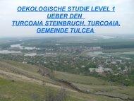 oekologische studie level 1 ueber den turcoaia steinbruch, turcoaia ...
