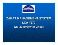 ZAKAT MANAGEMENT SYSTEM LCA 4572 An Overview of Zakat