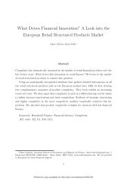 What Drives Financial Innovation? A Look into the European Retail ...