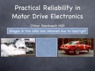 Practical Reliability in Motor Drive Electronics - CAFE Foundation