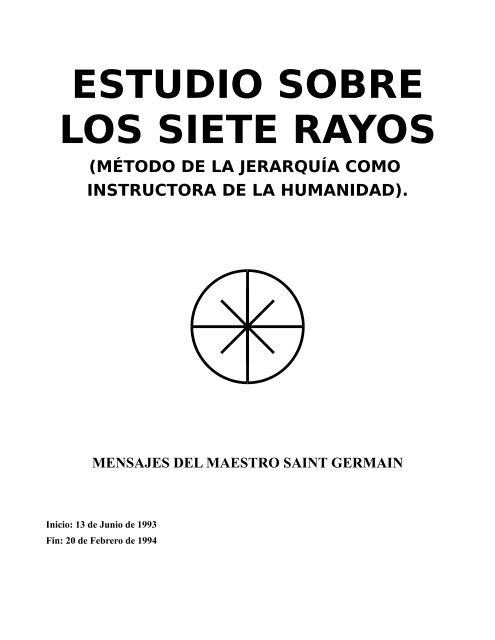 SAINT GERMAIN Estudio sobre los 7 rayos pdf