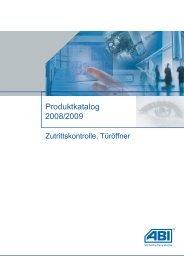 Produktkatalog 2008/2009 - ABI Sicherheitssysteme GmbH