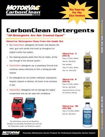 CarbonClean Detergents - MotorVac